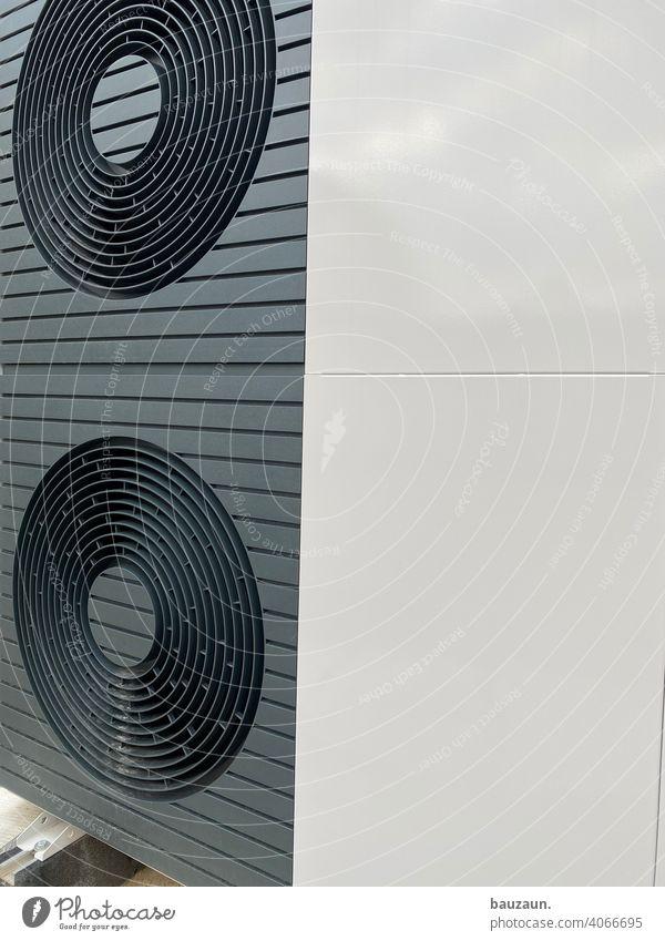 heizungsdetails. Heizung Baustelle Farbfoto Menschenleer Industrie Technik & Technologie Wasser Energiewirtschaft Versorgung Luftwärmepumpe Installateur
