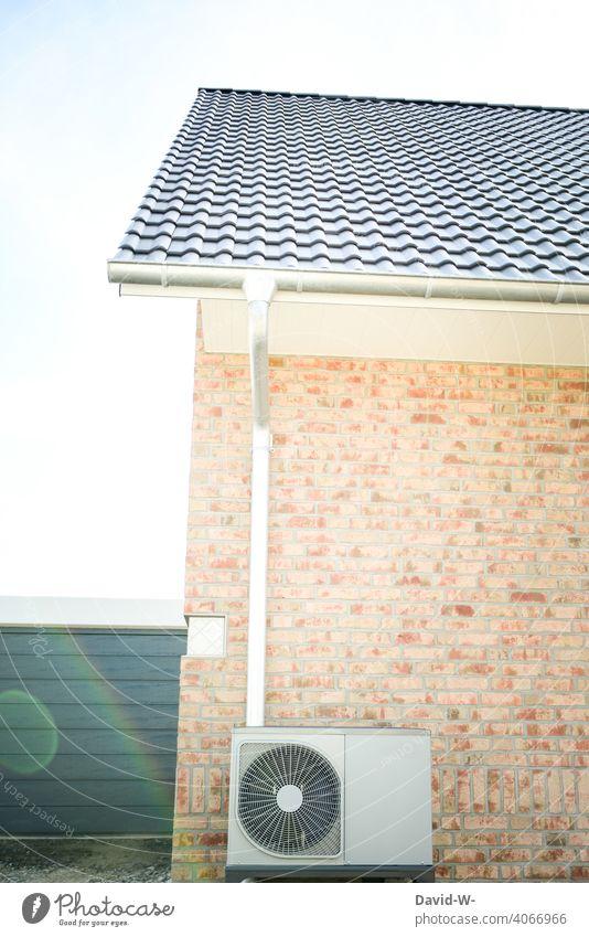 Luftwärmepumpe - nachhaltige / umweltfreundliche Heizmethode Energiegewinnung Wärmepumpe Energieeffizienz Luft-Wasser-Wärmepumpe Energiewirtschaft