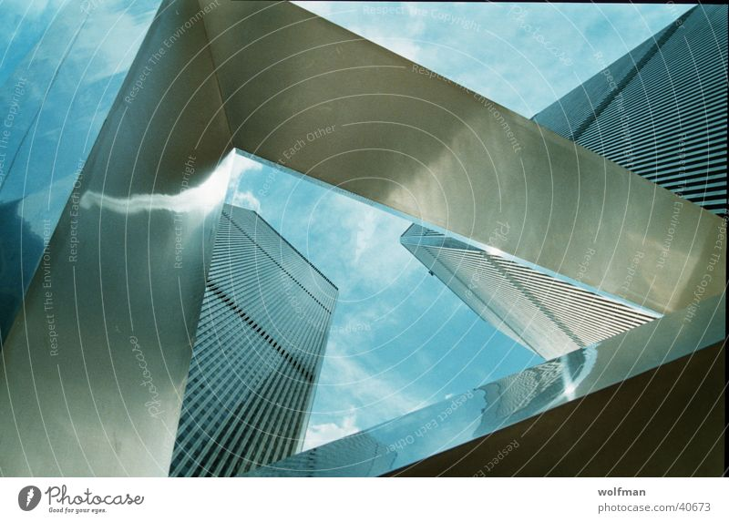 WTC Mensch Himmel Architektur Turm Denkmal New York City Manhattan World Trade Center