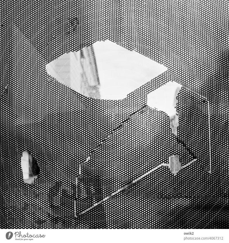 Schrulle Glasscheibe bizarre Formen Teile u. Stücke Schwarzweißfoto Riss Desaster Schaden komplex Nahaufnahme Kristallstrukturen Strukturen & Formen