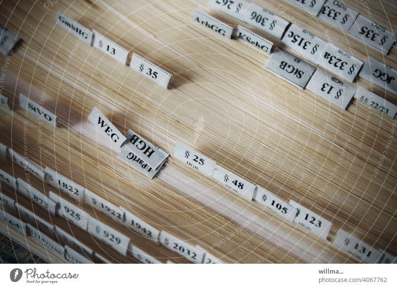 Paragraphenreiter Gesetzbuch Buchseiten Paragraf Registerkarte Registerreiter Tab StVO HGB BGB StGB ArbGG Recht Bürgerliches Gesetzbuch Zivilgesetz