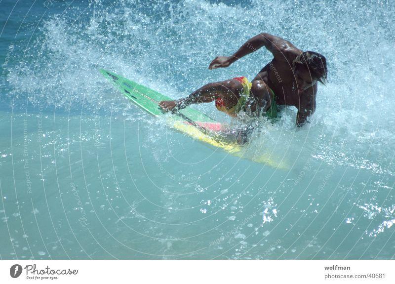 Wellenreiten Surfen Hawaii Meer Aktion Waikiki Extremsport Wasser Bewegung wolfman wk@weshotu.com