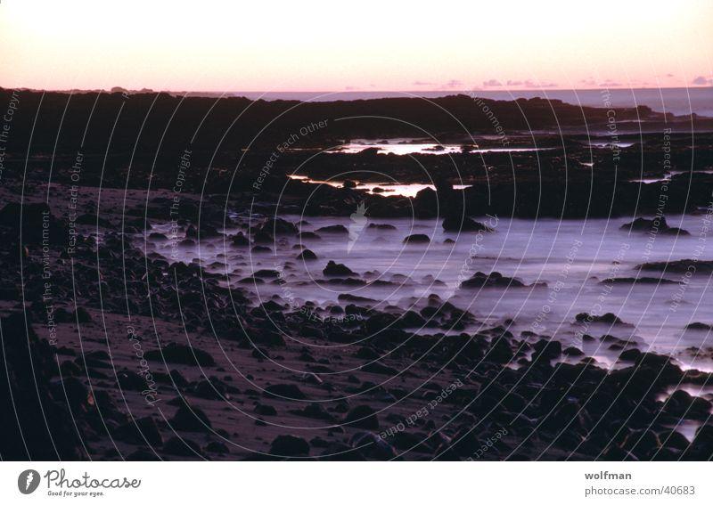 Sunset Sonnenuntergang Hawaii Meer Nacht Wellen Strand violett Mauna Kea Wasserdampf Dämerung wolfman wk@weshotu.com Stein