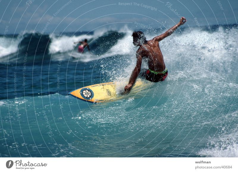 Wellenreiter Surfen Hawaii Meer Aktion Waikiki Extremsport Wasser Bewegung wolfman wk@weshotu.com