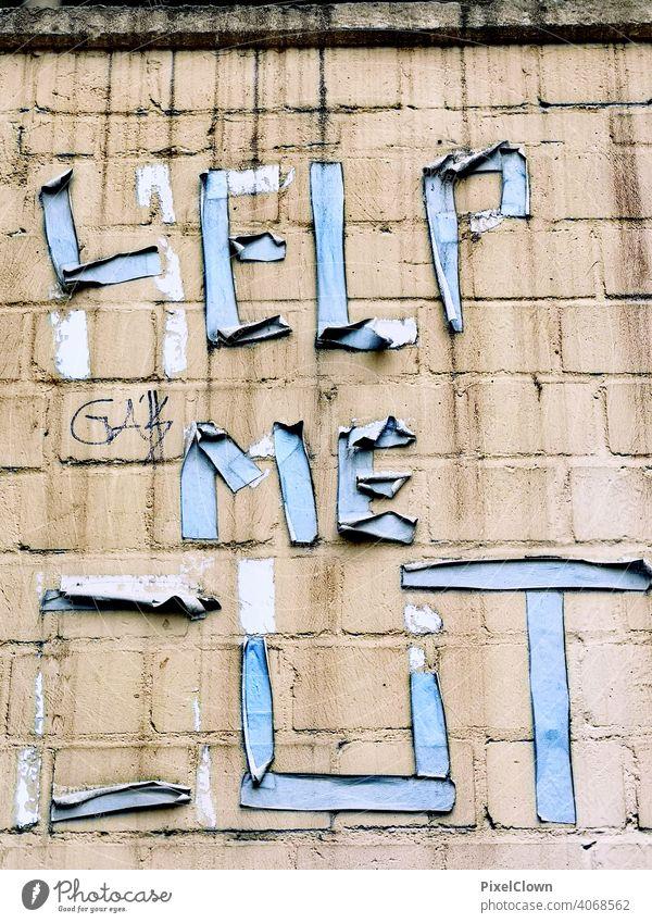 Tiefer Einschnitt Kunst Schriftzeichen Straßenkunst Buchstaben Jugendkultur Fassade Wort Subkultur trashig Kreativität