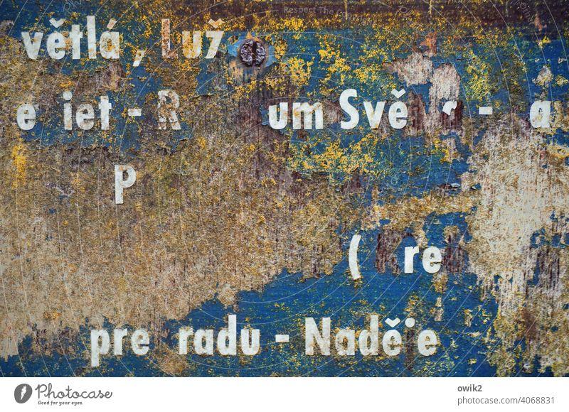 Resteverwertung Kommunikation Verständigung Text Typographie Schilder & Markierungen Buchstaben Sprache Kommunizieren Nahaufnahme Samlung Druckbuchstaben