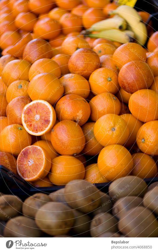 Orangen und Kiwi Säure Ackerbau Kalorie Zitrusfrüchte lecker Diät essen besetzen fleischig Lebensmittel frisch Frische Frucht Menschengruppe Gesundheit