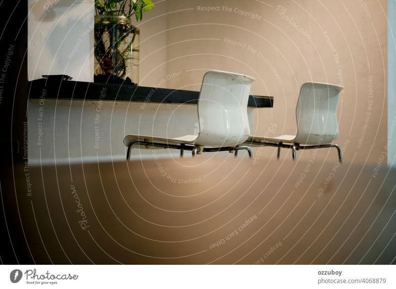 Bürostuhl Möbel Stuhl Sitz modern Business bequem Dekor Schreibtisch im Innenbereich Arbeit leer Design Reichtum Manager arbeiten weiß Gerät Objekt Architektur