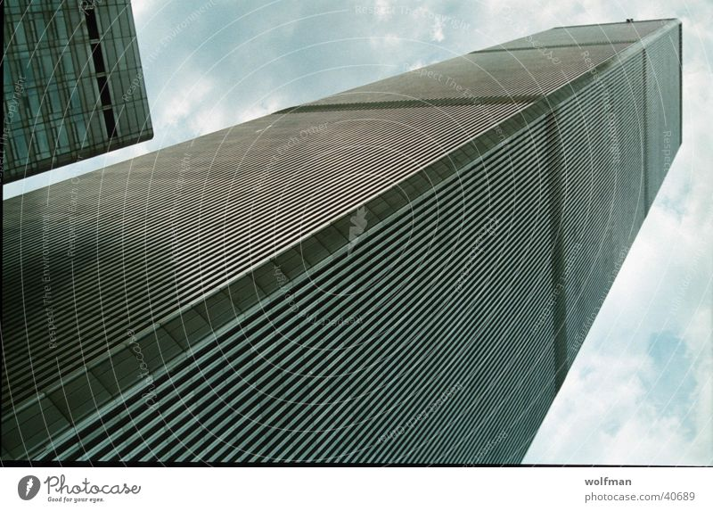 WTC Diagonal Mensch Himmel Architektur Turm Denkmal New York City World Trade Center