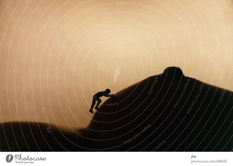 Bergsteiger auf Brust Frau Schnee feminin Erotik Berge u. Gebirge Akt Eis Frauenbrust Klettern Gipfel Bergsteigen Brustwarze