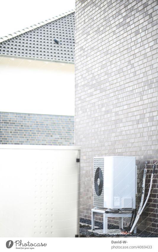 Luftwärmepumpe - nachhaltig heizen Energiegewinnung Energiewirtschaft umweltfreundlich wohnen Erneuerbare Energie Energieeffizienz Zukunftsorientiert modern