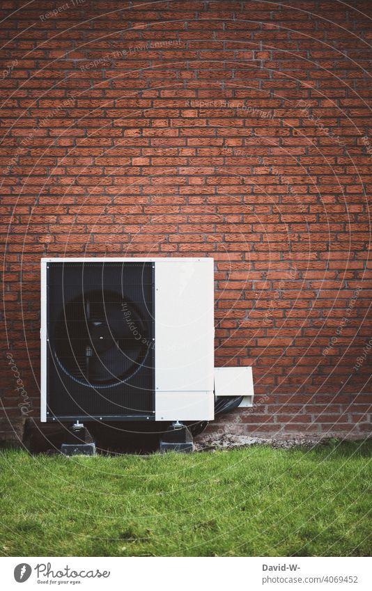 Luftwärmepumpe - Zukunftsorientiert Luftwasserwärmepumpe Wärme Wärmepumpe Heizungstechnik Umweltschutz ökologisch innovativ nachhaltig Ventilatoren