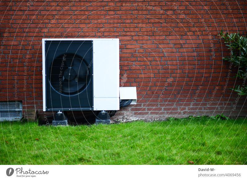 Luftwärmepumpe - ökologische nachhaltige Heizung Luftwasserwärmepumpe Wärme Wärmepumpe Heizungstechnik Umweltschutz innovativ Ventilatoren