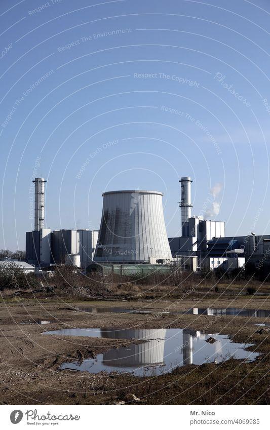 Heizkraftwerk Schornstein Industrie Umweltverschmutzung Klimawandel Energiewirtschaft Industrieanlage Himmel Stromkraftwerke Umweltschutz Fabrik CO2-Ausstoß