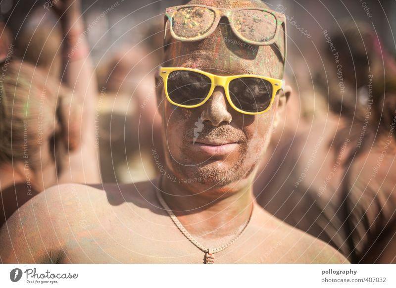 color up your life (13) Entertainment Party Feste & Feiern Mensch maskulin Junger Mann Jugendliche Erwachsene Leben Kopf Menschenmenge 18-30 Jahre Sonnenbrille
