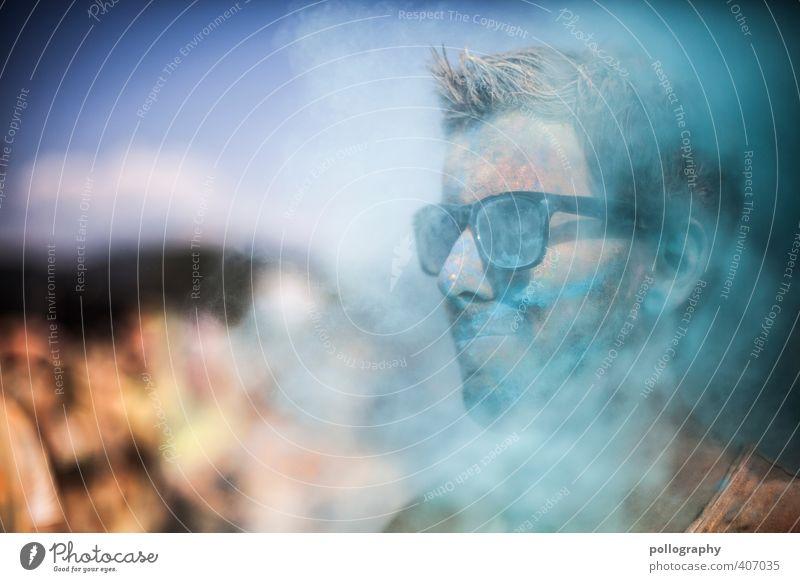 color up your life (11) Gesundheit Krankheit Allergie Mensch maskulin Junger Mann Jugendliche Erwachsene Leben Kopf Menschenmenge 18-30 Jahre Sonnenbrille