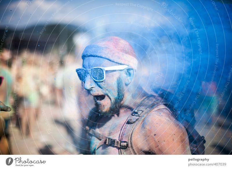 ...geschafft | 600 Mensch Mann Jugendliche Farbe Erwachsene Junger Mann 18-30 Jahre Leben Kopf Feste & Feiern Party Körper maskulin Veranstaltung Menschenmenge