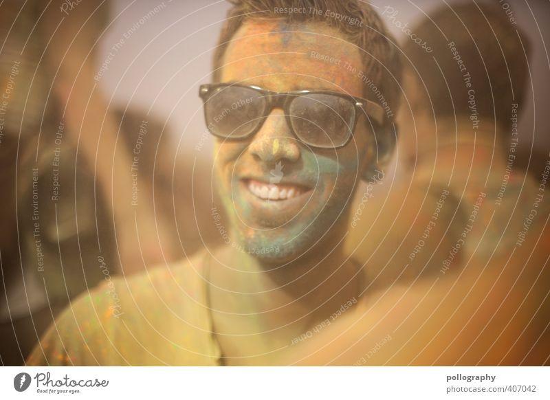 color up your life (12) Mensch Mann Jugendliche Farbe Freude Erwachsene Junger Mann 18-30 Jahre Leben Gefühle lachen Glück Kopf Feste & Feiern Party maskulin