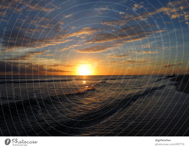caribbean sunset dream Wasser Meer Strand Wellen Kuba Abenddämmerung Barbados