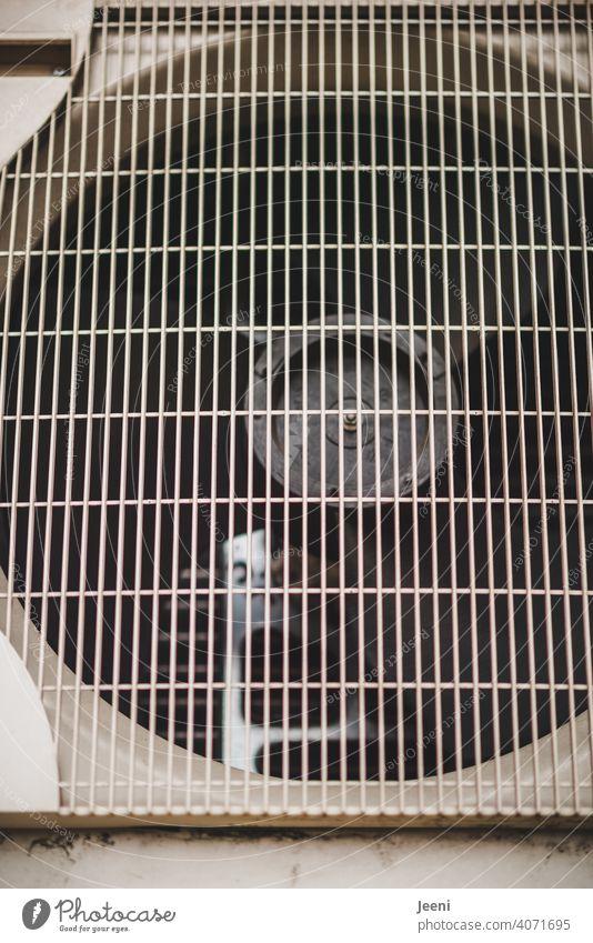 Ventilator einer Luftwärmepumpe | ökologische, nachhaltige, moderne und umweltfreundliche Heizung Wärmepumpe umweltschonend Wärmegewinnung heizen