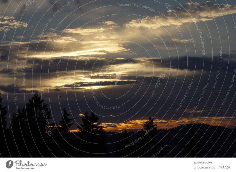 Alpen-Abend Wolken Stimmung mystisch Abenddämmerung
