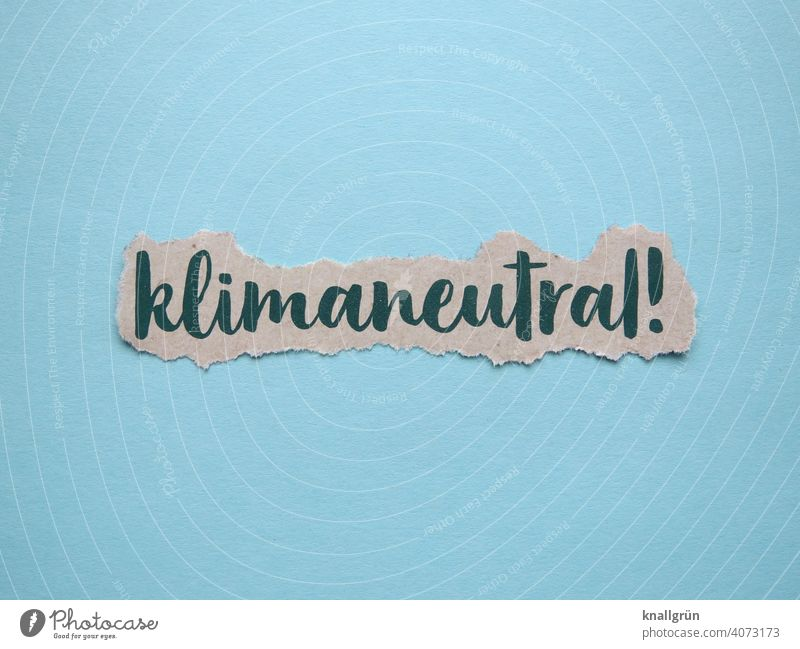 Klimaneutral! Umwelt Umweltschutz Umweltverschmutzung Klimawandel Erde Planet Energiewirtschaft Industrie Kohlekraftwerk Industrieanlage Fabrik Schornstein