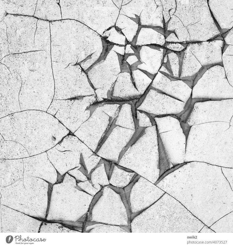 Schnittig Strukturen & Formen Muster Fassade Wand Mauer Verfall alt Riss Zahn der Zeit Zerstörung Vergänglichkeit Teile u. Stücke Fragmente verfallen Schaden