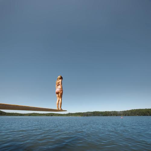 slow motion Freizeit & Hobby Spielen Sport Schwimmen & Baden Mensch Mädchen Leben Körper Haut 1 8-13 Jahre Kind Kindheit Umwelt Natur Landschaft Luft Wasser