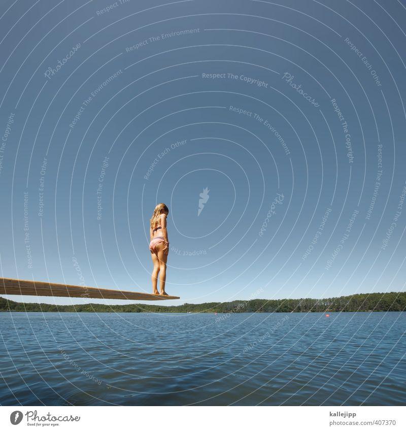 slow motion Mensch Kind Himmel Natur Wasser Sommer Mädchen Landschaft Umwelt Leben Sport Spielen Küste Schwimmen & Baden See Luft