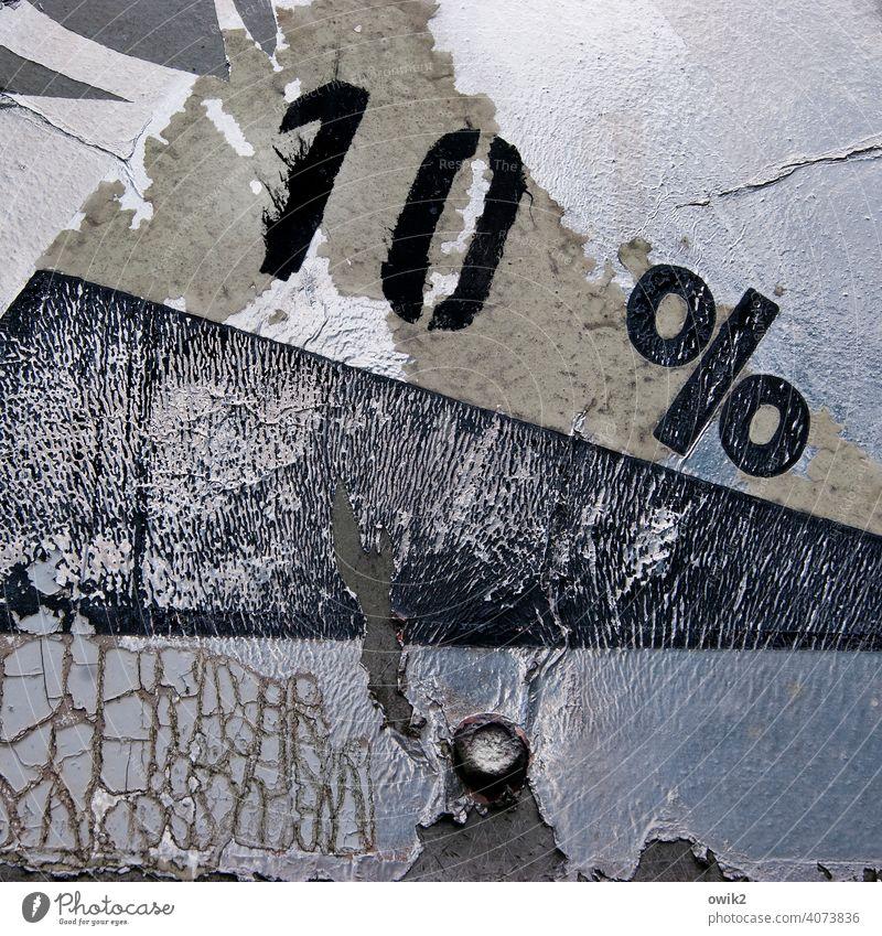 Abfall Verkehrszeichen verfallen Zahn der Zeit Warnung Warnhinweis Metallfolie abblättern Prozentzeichen Neigung Zerstörung Wege & Pfade Vergänglichkeit Verfall