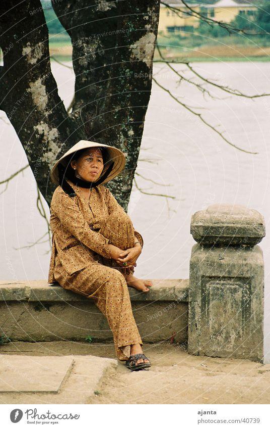 Pause Frau Pause Hut Kalifornien Vietnam Ocker Los Angeles