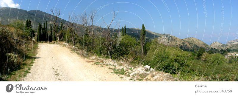 einsamer bergweg Natur Himmel Sommer Einsamkeit Berge u. Gebirge Wege & Pfade