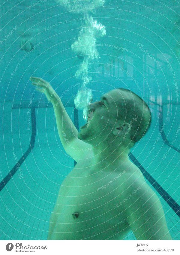 Unter Wasser 2 Mann Sport Luft Schwimmbad Freizeit & Hobby tauchen blasen
