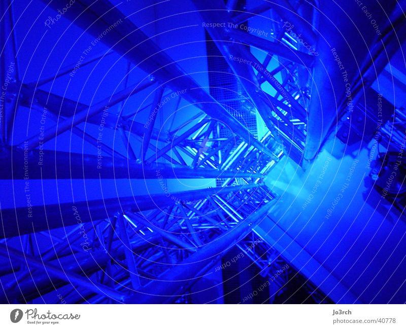 Trussing in Blau Konzert Licht Veranstaltung Architektur Conzert Beleuchtung blau Bühnenaufbau Technik & Technologie