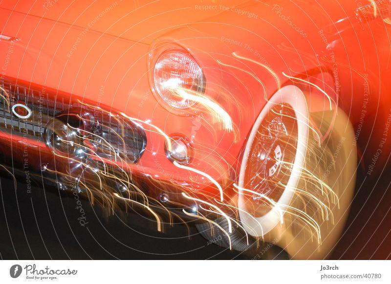 Auto Langzeitbelichtung 4 Licht Dinge PKW Lichtreflektionen