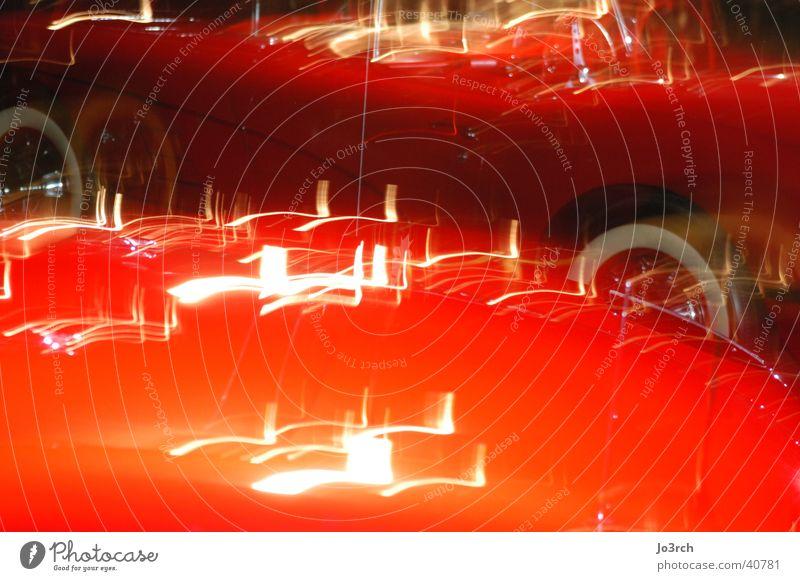 Auto Langzeitbelichtung 3 Licht Dinge PKW Lichtreflektionen