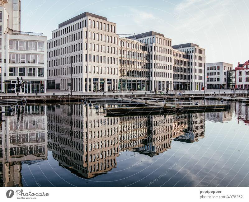 Bürogebäude Dortmund Phoenixsee Büroarbeit See Seeufer Sehenswürdigkeit Erholung arbeiten Arbeit & Erwerbstätigkeit arbeiten büro Arbeitsplatz Business Wasser