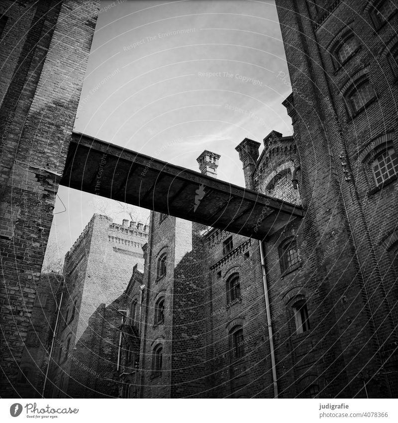 Industrieruine Ruine Industrieanlage Industrieromantik Bauwerk Gebäude Fabrik Architektur Mauer Verfall Vergänglichkeit Wandel & Veränderung Fenster Backstein