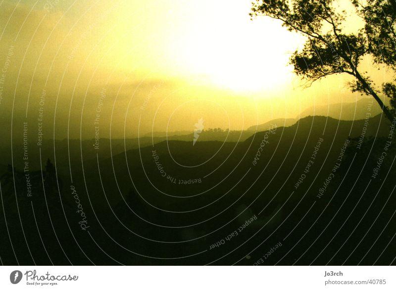 Morgenlicht Sonne Berge u. Gebirge USA