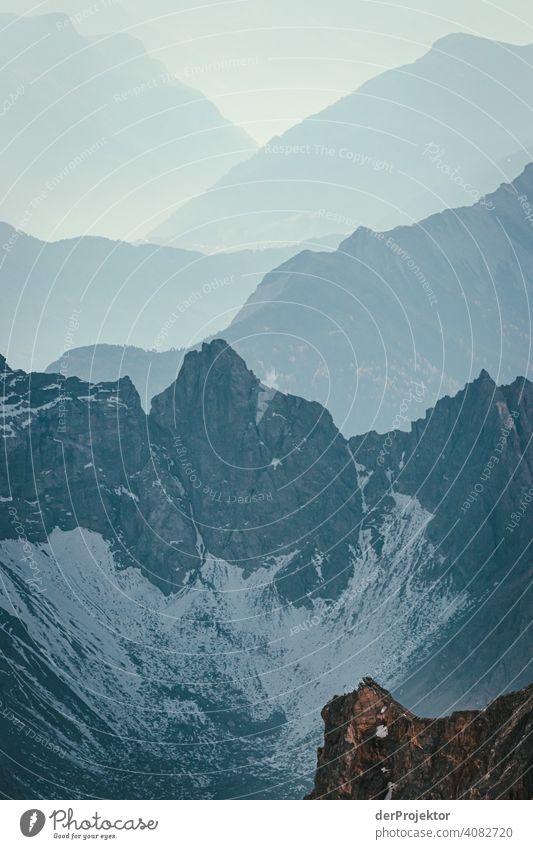 Panoramablick von der Zugspitze IV Schneelandschaft Strukturen & Formen Österreich Umweltbilanz Umweltsünder Zerstörung Gletscher Schneebedeckte Gipfel Felsen