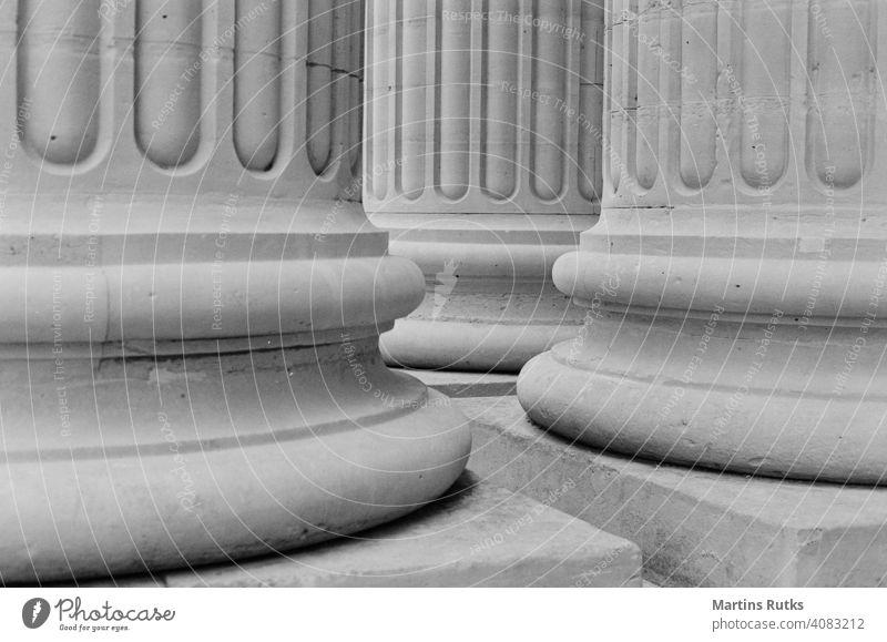 Sockel von Architektursäulen Justiz u. Gerichte schulisch legal Stärke Universität Recht abstützen Hochschule Gleichgewicht Bildung Klassik Gerichtsgebäude