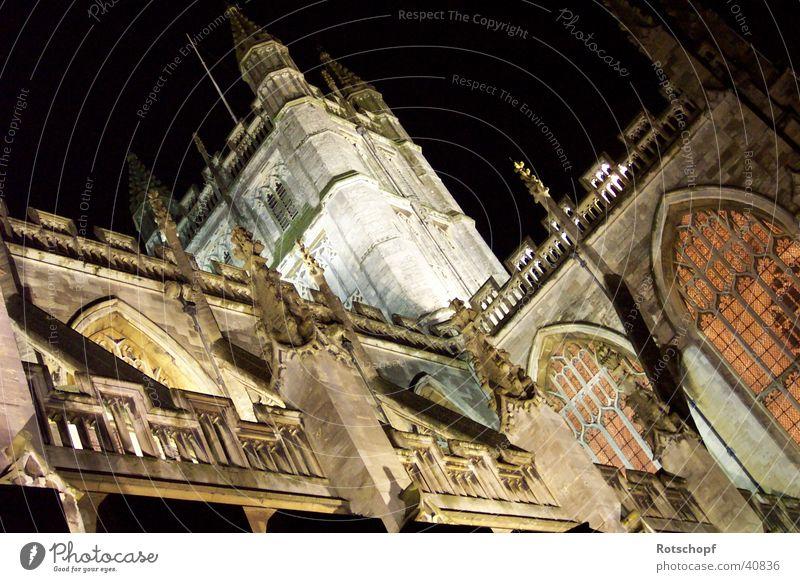 Kathedrale von Bath Nacht England Gotteshäuser Religion & Glaube Beleuchtung Historische Bauten Kloster Klosterkirche Bath Abbey