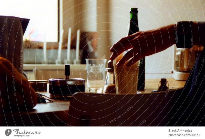 Greif zum Kaffee, Baby Hand Glas Küche Uhr Aschenbecher