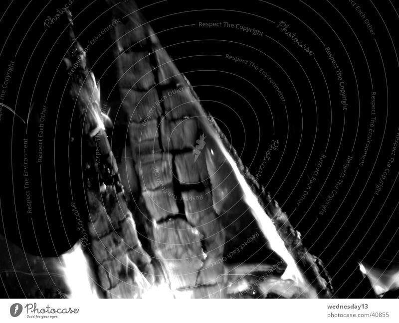 Lagerfeuer Holz Nacht Langzeitbelichtung Natur Brand Makroaufnahme