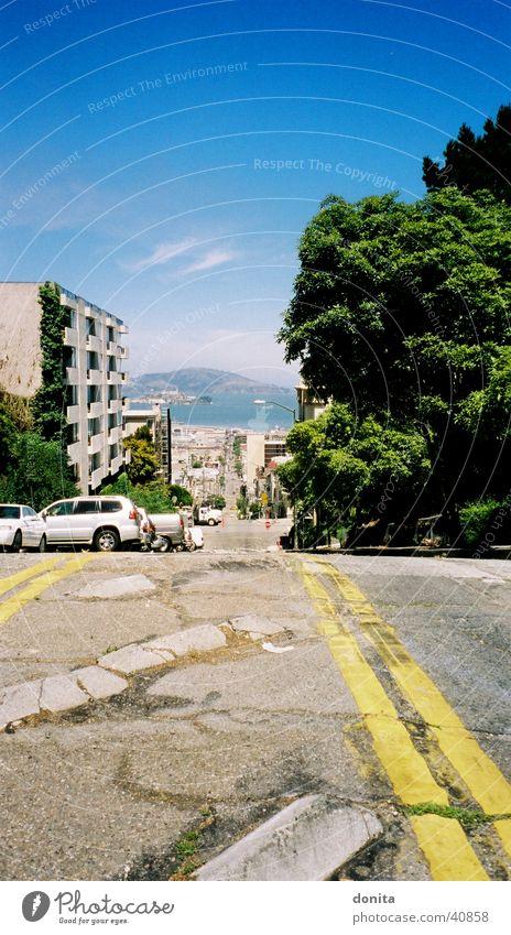 San Fancisco - View to Alcatraz Straße Kalifornien Nordamerika San Francisco