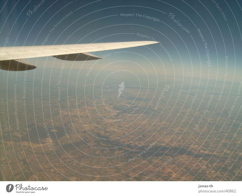Vogelperspektive Flugzeug Spanien Wolken Ferien & Urlaub & Reisen Portugal Europa Landschaft Natur Technik & Technologie Fluss Amerika fliegen