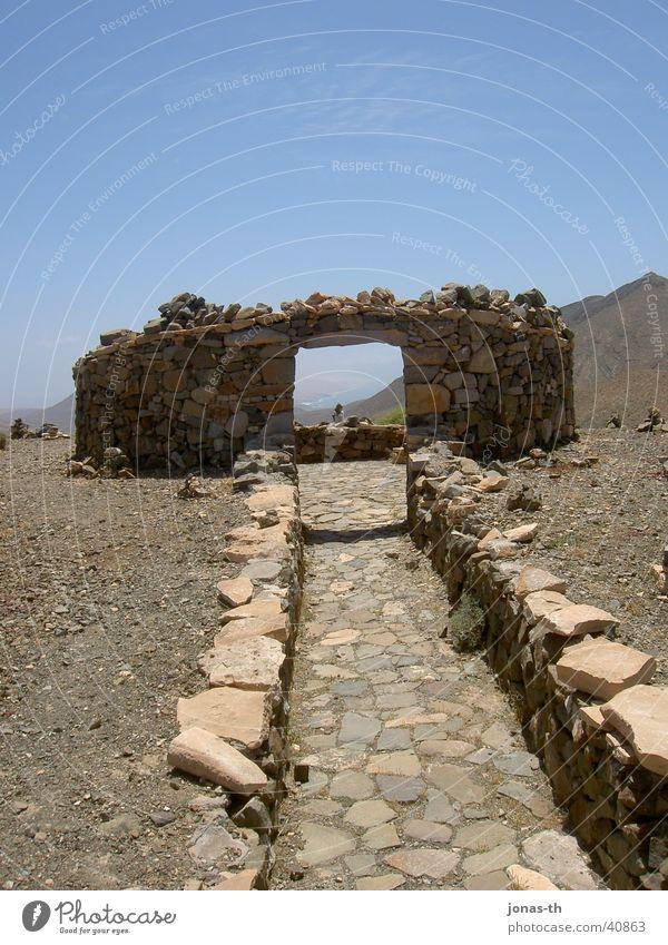 Das Tor zum Himmel Fuerteventura Ferien & Urlaub & Reisen Sommer Architektur Steinbauten Landschaft Natur Berge u. Gebirge