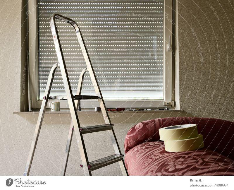 Renovierung Häusliches Leben Wohnung Renovieren Umzug (Wohnungswechsel) Innenarchitektur Sofa Mauer Wand Fenster Arbeit & Erwerbstätigkeit authentisch