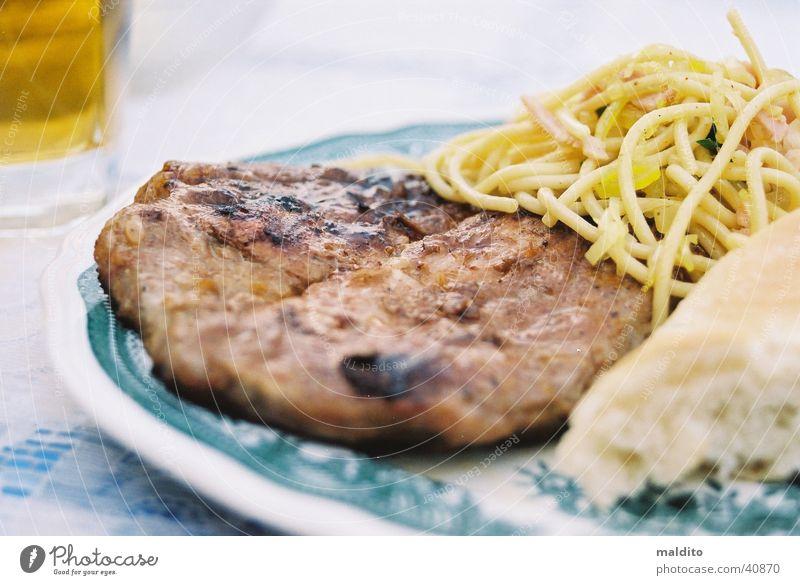 Grillfleisch-Macro Sommer Ernährung Brot Grillen Teller Fleisch Nudeln Kochen & Garen & Backen
