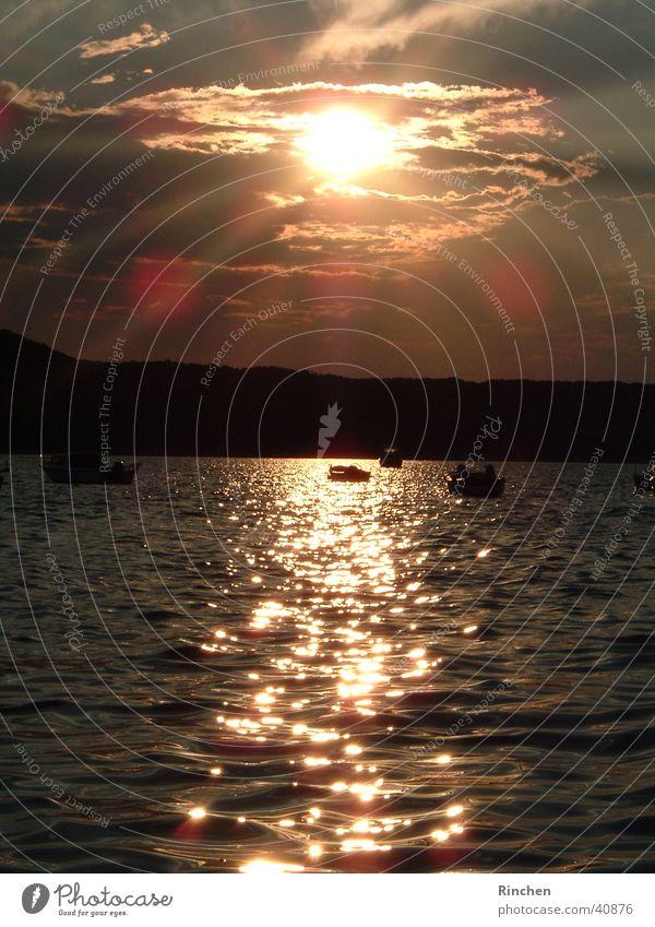 Abendstimmung Kroatien Sonne Meer Wellen Digitalkamera